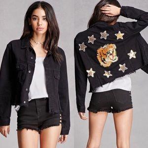 Nasty Gal Black Denim Jacket